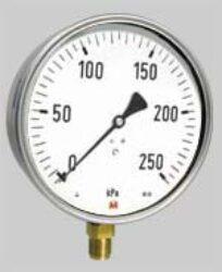 MM160K/117/1(1,6)                                                               -Standardní tlakoměr se spodním přípojem. MM160K/117/10 0-4Mpa M20x1,5 1%