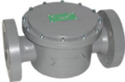 Plynový filtr KAP, DN-50, PN -16.-Přírubové připojení  PN-16 ,DN-50, (max.tlak: 6 bar) ,filtrační schopnost 5MY.