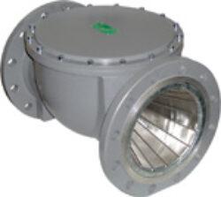 Plynový filtr ARMAGAS, DN-150, PN -16.-Přírubové připojení  PN-16 ,DN-150, (max.tlak: 3 bar) ,filtrační schopnost 55MY.