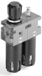 FR+L ND 1/2 20 012 RMSA N TMV-filtr-regulátor + maznice G1/2, rozsah 0-12 bar,20µm, ruční/poloautomat. vypouštění kondenzátu