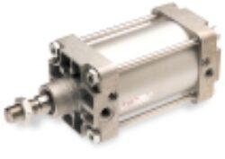 RA/8050/M/160-pneumatický válec dvojčinný pr.50mm, zdvih 160mm,magnetický píst nastavitelné tlumení , připojení ovl.vzduchu G1/4, provedení dle ISO 15552, ISO 6431,VDMA 24562 a NFE 49-003-1