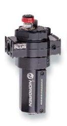 L64M-NNP-EDN-maznice mikroolejová bez montážního rámu, kovová nádobka 0,2 l s indikátorem hladiny, Pmax.17 bar