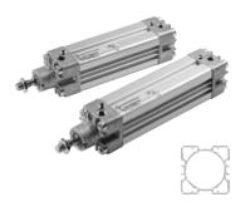 PRA/182063/M/200                                                                -pneumatický válec dvojčinný profilový pr.63mm, zdvih 200mm,magnetický píst nastavitelné tlumení , připojení ovl.vzduchu G3/8, provedení dle ISO 15552, ISO 6431,VDMA 24562 a NFE 49-003-1