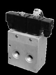 53VEE16DF-5/3-cestný elektropneu. ventil G1/2, světlost 16mm, 2-10 bar, 230V AC