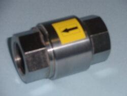 zpětný ventil-závitový,typ: ZV 2-G, Rp 3/8 (DN10), PN-40.-Zpětný ventil -závitový, typ: ZV 2-G,Rp 3/8 (DN10),PN-40. Zpětný ventil není uzavírací armatura. Max.tlak při teplotě do 100°C :  4 MPa.