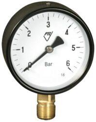 03312 - AZ-Standardní tlakoměr se spodním přípojem. 03312 - AZ M20x1,5