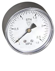 03358 - S-Standardní tlakoměr se zadním přípojem. 03358 - P M12x1,5
