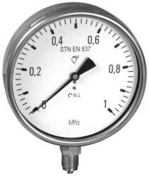 03333 - V-Standardní tlakoměr se spodním přípojem (vodotěsný) 03313 - V M20x1,5