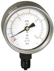 03332-V-Standardní tlakoměr se spodním přípojem (vodotěsný). 03332 - V M20x1,5