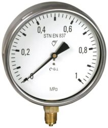 03313 - S-Standardní tlakoměr se spodním přípojem. 03313 - S M20x1,5