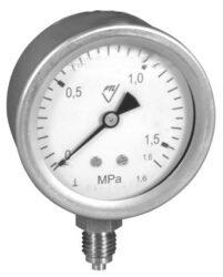03304 - CHV-Celonerezový tlakoměr se spodním přípojem (vodotěsný).  03304 - CHV  M12x1,5