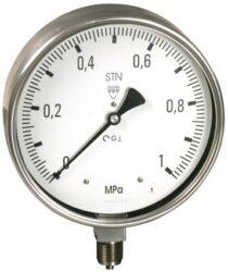 13312 - CHV-Celonerezový tlakoměr se spodním přípojem  (vodotěsný). 13312 - CHV  M20x1,5