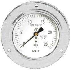 03322-Standardní tlakoměr se zadním přípojem, přední přírubou. 03322 M20x1,5