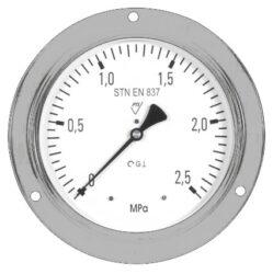 03323-Standardní tlakoměr se zadním přípojem, přední přírubou. 03323  M20x1,5