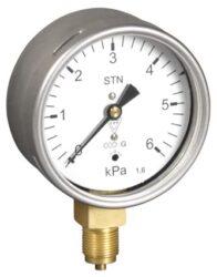 03368                                                                           -Membránový tlakoměr s krabicovou membránou a spodním přípojem. 03368  M12x1,5