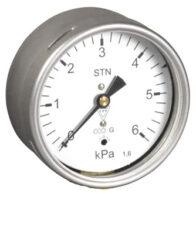 03369 - S-Membránový tlakoměr s krabicovou membránou a zadním přípojem. 03369 - S M12x1,5