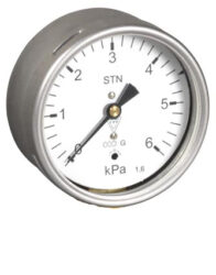 03369                                                                           -Membránový tlakoměr s krabicovou membránou a zadním přípojem. 03369 M12x1,5
