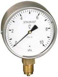 03398-Membránový tlakoměr s krabicovou membránou a spodním přípojem. 03398  M20x1,5