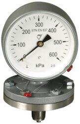 03379                                                                           -Membránový tlakoměr se spodní přírubou. 03379 M20x1,5
