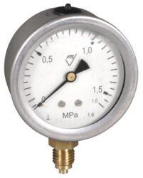 03304 - V                                                                       -Vodotěsný tlakoměr se spodním přípojem. 03304 - V  M12x1,5