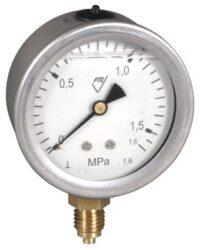 03304 - G-Glycerinový tlakoměr se spodním přípojem. 03304 - G  M12x1,5