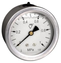 03358 - G                                                                       -Glycerinový tlakoměr se zadním přípojem. 03358 - G M20x1,5