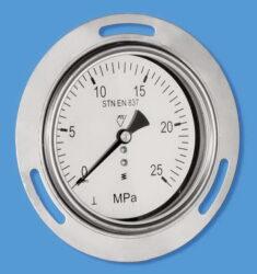 13322 - CHV-Celonerezový, vodotěsný tlakoměr se zadním přípojem. 03386 - CHV  M20x1,5