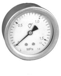 03358 - CHV                                                                     -Celonerezový, vodotěsný tlakoměr se zadním přípojem. 03358 - CHV G1/4