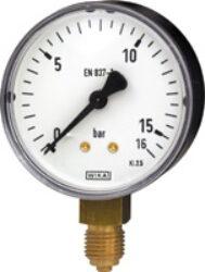 111.10.63-Standardní tlakoměr se spodním přípojem. 111.10.63  M12x1,5