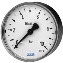 111.12.100                                                                      -Standardní tlakoměr se zadním přípojem. 111.12.100  G1/4