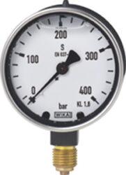 213.40.63-Standardní tlakoměr se spodním nebo zadním přípojem 213.40.63