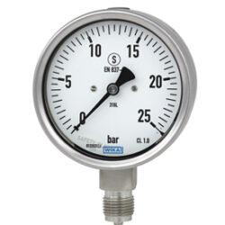 232.30.100-Standardní tlakoměr se spodním přípojem. Bezpečnostní provedení. 232.30.100