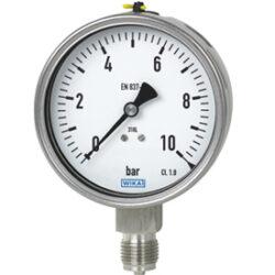 232.50.100                                                                      -Standardní tlakoměr celonerezový se spodním přípojem. 232.50.100