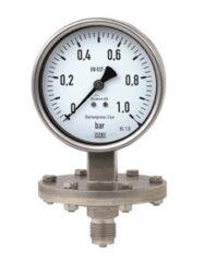 432.50.100-Membránový tlakoměr se spodním přípojem pro chemické provozy. 432.50.100