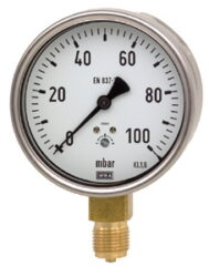 612.20.160-Membránový tlakoměr se spodním přípojem. 612.20.160