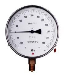 MM160P/114/0,6-Etalonový tlakoměr se spodním přípojem. MM160P/114/0,6