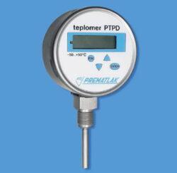PTPD-Digitální teploměr se spodním stonkem