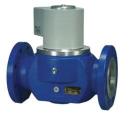 Bezpečnostní ventil pro plyn (přírubový).-Bezpečnostní ventily / uzávěry pro plyn typová ředa ZE, DN-50 až DN-100), přírubové provedení (připojení PN16).Ventily jsou v základní poloze bez napětí UZAVŘENY (NC) . Pracovní přetlak: od 0 kPa až do 250 /150 /100 kPa , 230V, 110V, 24V AC, 12V DC, 24V DC.Pracovní poloha: vodorovná .
