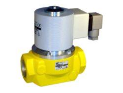Bezpečnostní ventily pro plyn (závitový).-Bezpečnostní ventily / uzávěry pro plyn typová řada ZEA, Rp 3/4 (DN20) až Rp 2 1/2 (DN65), závitové (Rp), ventily jsou v základní poloze bez napětí UZAVŘENY (NC) . Pracovní přetlak: od 0 kPa až do 120 kPa , 230V, 110V, 24V AC, 12V DC, 24V DC , prostředí  s nebezpečím výbuchu. Pracovní poloha: vodorovná .
