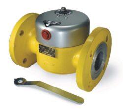 Bezpečnostní ventily pro plyn-Bezpečnostní havarijní ventily / uzávěry pro plyn,typová řada MAG-3, DN-50 (s přírubovými hrdly DN32,DN40,DN50) ,DN-100 (s přírubovými hrdly DN65,DN80,DN100), přírubové provedení (připojení  PN16). Ventily jsou v základní poloze bez napětí UZAVŘENY (NC) . Pracovní přetlak:  max. 5 bar , uzavírací elektrický impulz 12V DC (5A). Montáž  s detektory plynu .Prostředí  s nebezpečím výbuchu (Ex). Pracovní poloha: libovolná .