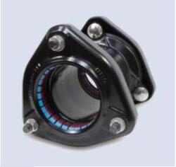 Ultragrip-spojka ( DN-100 )-Ultragrip spojka s jištěním proti posunu , DN-100 (min./max. 107,2 - 133,2 ) pro ocel. šedá a tvárná listina, PE, PVC .