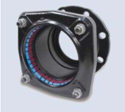 Ultragrip - přírubový adaptér (DN-100)-Ultragrip přírubový adaptér s  jištěním proti posunu , DN-100 (min./max. 107,2 - 133,2 ) pro ocel. šedá a tvárná listina, PE, PVC .