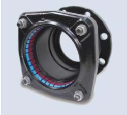 Ultragrip - přírubový adaptár (DN150)-Ultragrip přírubový adaptér s  jištěním proti posunu , DN-150 (min./max. 158,2 - 192,2 ) pro ocel. šedá a tvárná listina, PE, PVC .