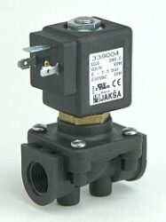 DL6                                                                             -2/2 elektromagnetický ventil-přímo ovládaný DN6; 230V AC,G3/8,0-2,5bar,NC,Tmax.+95°C konektor není součástí balení ventilu
