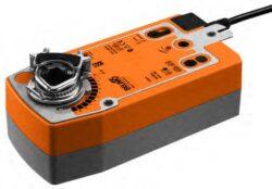 SF..A-Pohony s pružibnovým zpětným chodem typové řady SF..A (20 Nm)  s připojovacím kabelem pro klapky s mechanickou havarijní funkcí do cca 4m2, univerzální třmen 10...22 mm, 14...25.4 mm.
