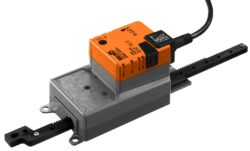 SH..A-Lineární pohony typové řady SH..A (450 N) s připojovacím kabelem pro klapky a šoupata.