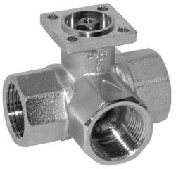 3cestné rozdělovací - otevřeno-zavřeno-3cestné uzavírací kulové kohouty se servopohonem Belimo typové řady: TR.. AC 230 V; AC/DC 24 V.