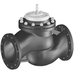 Přírubový PN 16, DN 200-250 - spojitý.-Přírubový ventil PN 16 do 120°C, DN 200-250 se servopohonem Belimo, typová řada: GV... * 120°C při 16 bar, 150°C při 14,4 bar. AC 24 V.