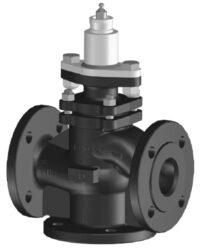 Přírubový PN 25; 40, DN 15-100 - spojité-Přírubový ventil PN 25 do 150°C, 200°C,  DN 15-100 se servopohonem Belimo, typová řada: NV..., AV... AC/DC 24 V.