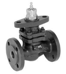 Přírubový PN 25; 40, DN 15-100-Přírubový ventil PN 25 do 150°C, do 200°C, DN 15-100 se servopohonem Belimo, typová řada: NVF... AC/DC 24 V.